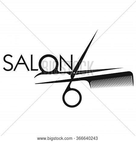 Beauty Salon And Barber Symbol Scissors And Comb