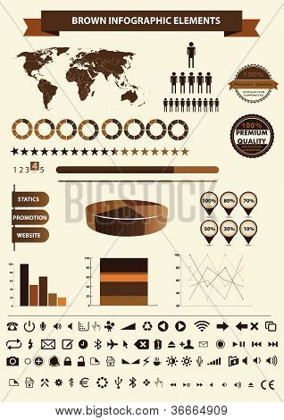 High quality vintage styled infographics elements. Full editable.