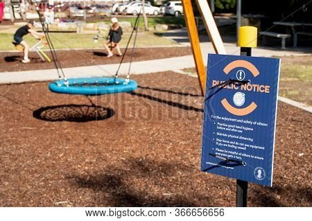 Sydney, Australia - 2020-05-16 Parks And Playground Reopened In Nsw Australia On 15th Of May As Part