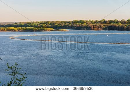 Bluffs And Island In Spring Lake Area Of Mississippi River Valley Near Hastings