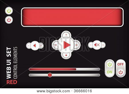 Web UI Elements Red.
