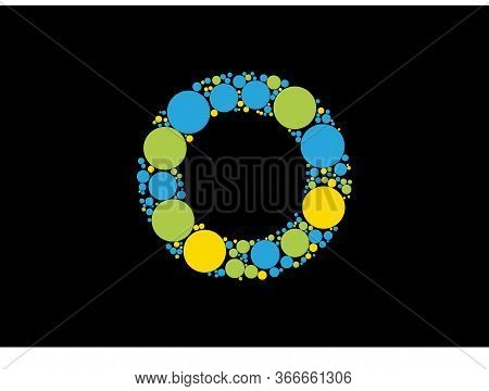 Abstract Letter O Logo Design With Colorful With Creative Modern Trendy