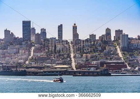 Beautiful cityscape of San Francisco and San Francisco Bay landscape in North California USA West Coast of Pacific Ocean, San Francisco United States Landmark Travel Destination cityscape concept.