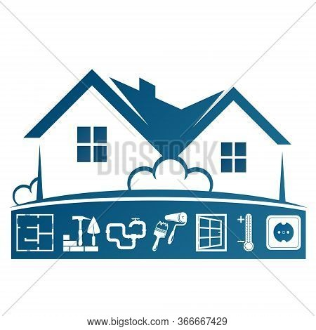 Building Repair And Home Maintenance Symbol For Construction Business
