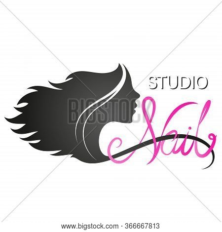 Manicure Nails Care Studio Symbol For Beauty Business