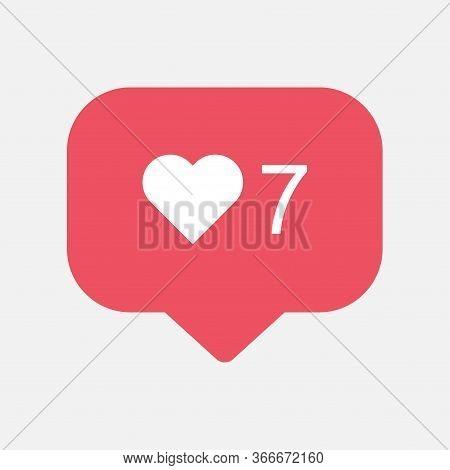 Counter, Follower Notification Symbol Instagram. Buton For Social Media