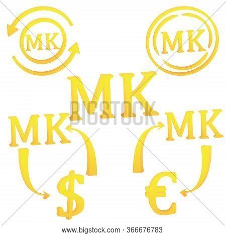 3d Malawian Kwacha Set Of Currency Symbol Of Malawi Vector Illustration On A White Background