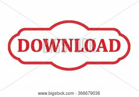 Mosaic Download Icon And Rubber Stamp Seal With Download Caption. Mosaic Vector Is Formed With Downl