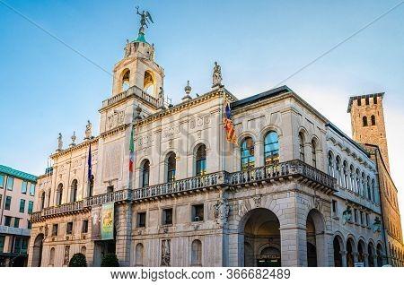 Padua, Italy, September 12, 2019: City Hall Palazzo Moroni - Comune Di Padova Palace Building In His