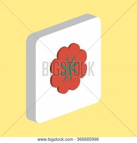 Swirl Flower Simple Vector Icon. Illustration Symbol Design Template For Web Mobile Ui Element. Perf