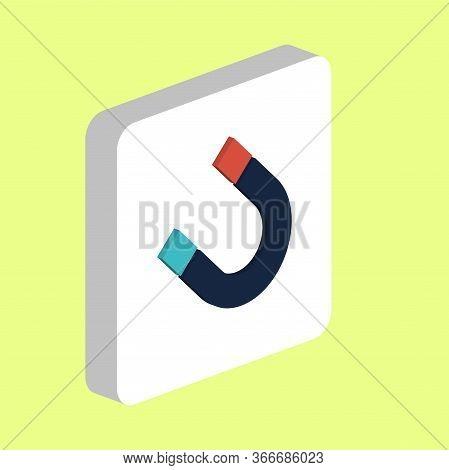 Magnet, Magnetism Simple Vector Icon. Illustration Symbol Design Template For Web Mobile Ui Element.