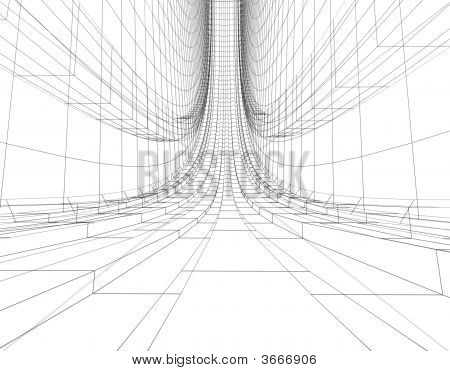 Abstract Wireframe Construction