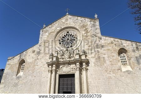 The Medieval Cathedral In The Historic Center Of Otranto, Coastal Town Of Greek-messapian Origins In