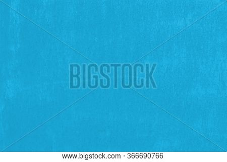 Blue Grunge Background. Old Painted Metal Surface With Paint Damage.