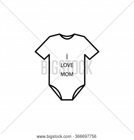 Overalls, Jumpsuit Line Illustration Icon On White Background