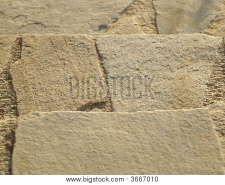 Beige stone slap steps background closeup detail poster