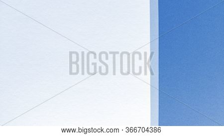Simple Flat Lay With Pastel Texture. Blue And White Paper Background. Stock Photo.