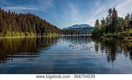 A Peaceful Morning On Bear Lake Near Seward Alaska.