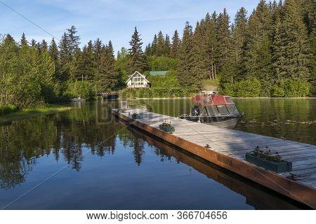 A Peaceful Late Spring Morning On Bear Lake Near Seward Alaska.