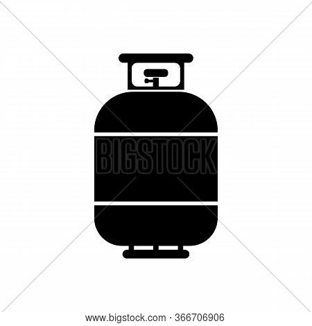 Flammable Gas Tank. Vector Simple Modern Icon Design Illustration.
