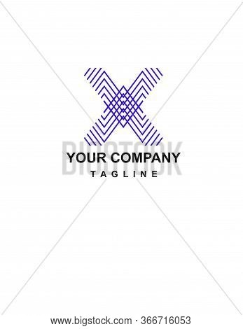 X Initials Geometric Company Logo And Vector Icon