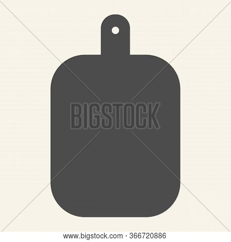 Cutting Board Solid Icon. Wooden Chopping Board Symbol, Glyph Style Pictogram On Beige Background. K
