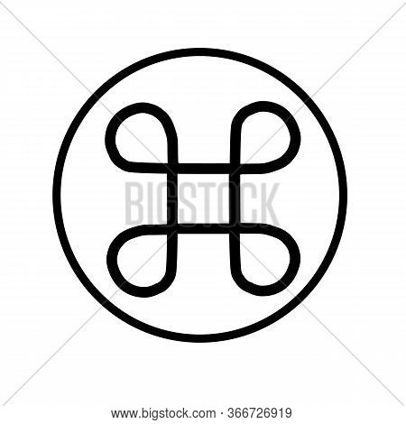 Command Icon On White Background. Flat Style. Control Command Icon For Your Web Site Design, Logo, A