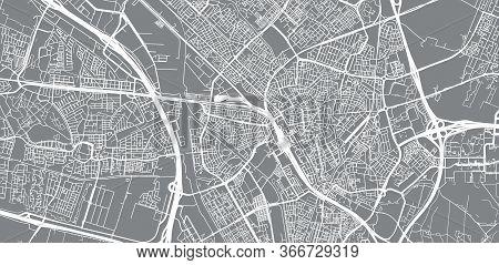 Urban Vector City Map Of Utrecht, The Netherlands