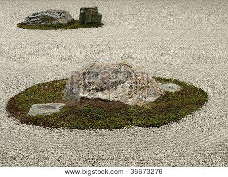Famous Rock Garden Of Ryoan-ji Temple, Kyoto