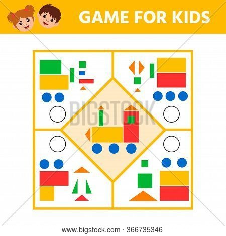 Education Logic Game For Preschool Kids For The Development Of Logical Thinking. Connect The Details