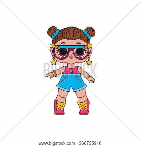 Cute Lol Doll. Coloring Book For Kids. Color Vector Illustration. Design For Baby Girl, T-shirt, Dec