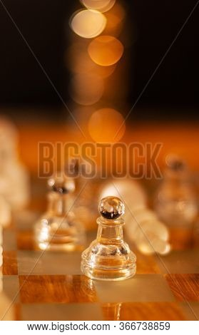 Chess Board Game Concept For Ideas And Competition And Strategy, Business Success Concept.