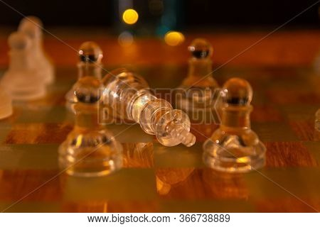 Chess Board Game Concept In Ideas And Competition And Strategy, Business Success Concept.
