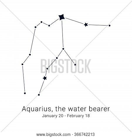 Aquarius, The Water Bearer. Constellation And The Date Of Birth Range