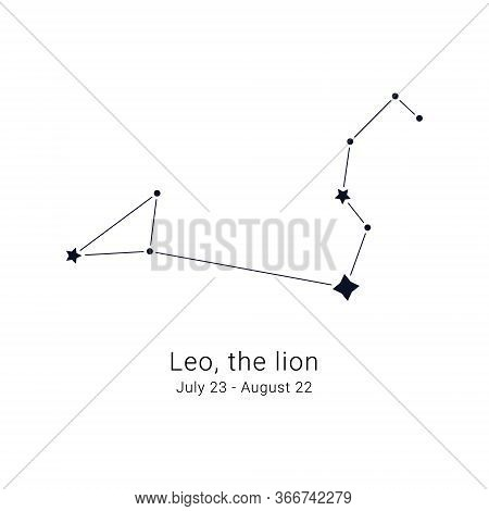 Leo, The Lion. Constellation And The Date Of Birth Range