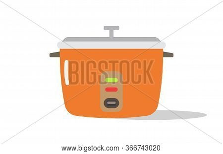 Modern Cooker Isolated On White Background Vector Illustration. Cooker Icon For Web,mobile,ui,game.