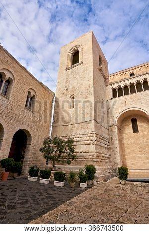 Bell Tower Of Basilica Of Saint Nicholas Also Known As Basilica San Nicola De Bari At Bari Apulia Pu