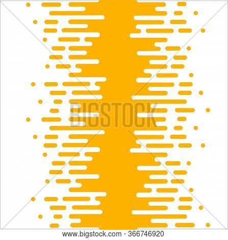 Line Transition Pattern Background, Abstract Irregular Geometric Texture. Vector Yellow White Color