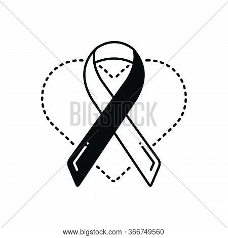 Black Solid Icon For Health-awareness Health Awareness Prevention Ribbon