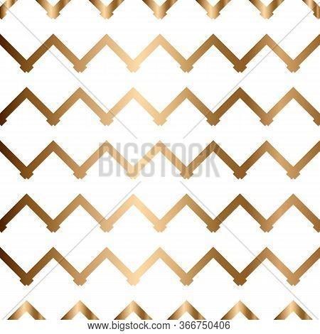 Abstract Vector Geometric Seamless Golden Pattern