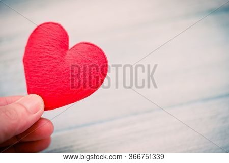 Hands Holding Heart Give Love Philanthropy Donate Help Warmth Take Care Valentines Day / Health Care