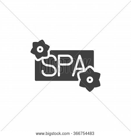 Spa Salon Signboard Vector Icon. Filled Flat Sign For Mobile Concept And Web Design. Spa Sign Glyph