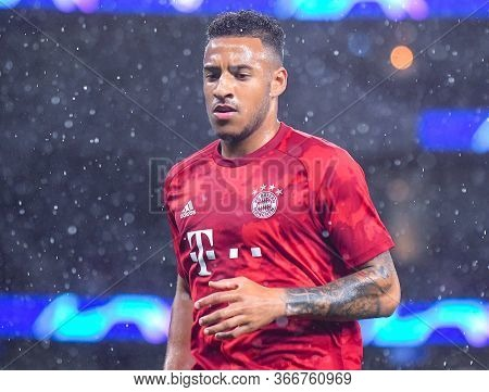London, England - October 1, 2019: Corentin Tolisso Of Bayern Pictured Ahead Of The 2019/20 Uefa Cha
