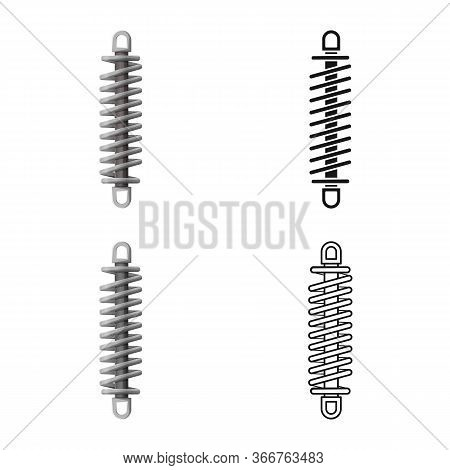 Vector Design Of Coil And Detail Icon. Graphic Of Coil And Metal Stock Symbol For Web.