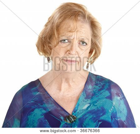 Sad Mature Woman
