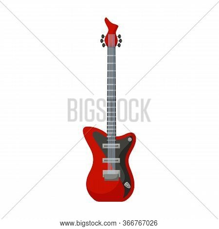 Electric Guitar Vector Icon.cartoon Vector Icon Isolated On White Background Electric Guitar.