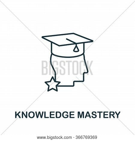 Knowledge Mastery Icon From Education Collection. Simple Line Knowledge Mastery Icon For Templates,