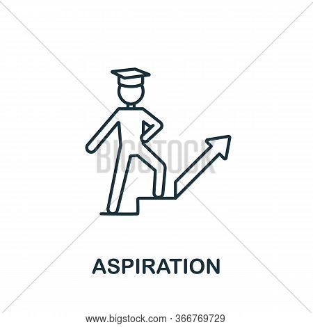 Aspiration Icon From Education Collection. Simple Line Aspiration Icon For Templates, Web Design And