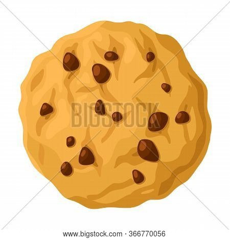 Cookies With Crumbs Vector Icon.cartoon Vector Icon Isolated On White Background Cookies With Crumbs