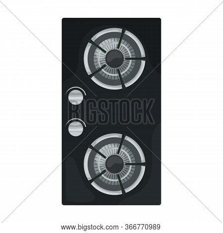 Gas Stove Vector Icon.cartoon Vector Icon Isolated On White Background Gas Stove.